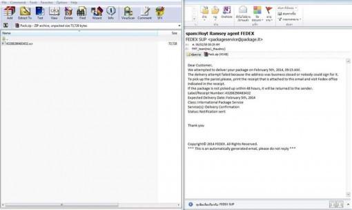 ไวรัส CTB อีเมล์